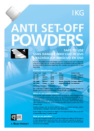 Anti Set-off Powders