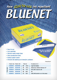 New easy to ise ink repellant Bluenet